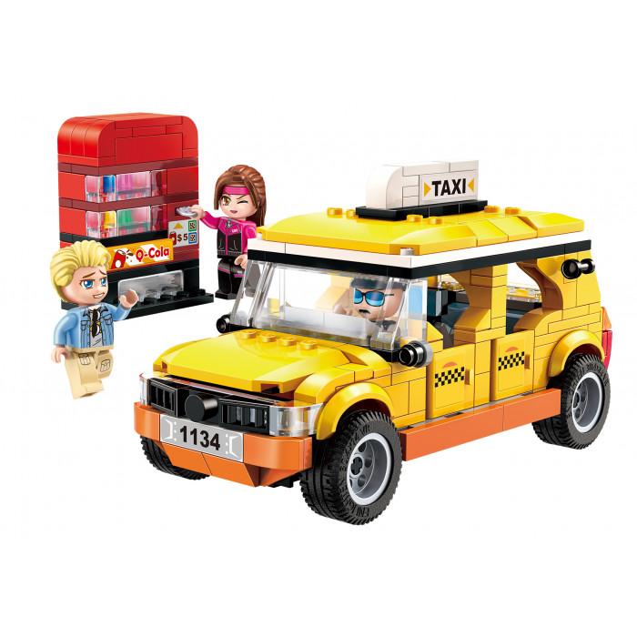 Q-MAN Építőjáték: Városnéző taxi + ital automata