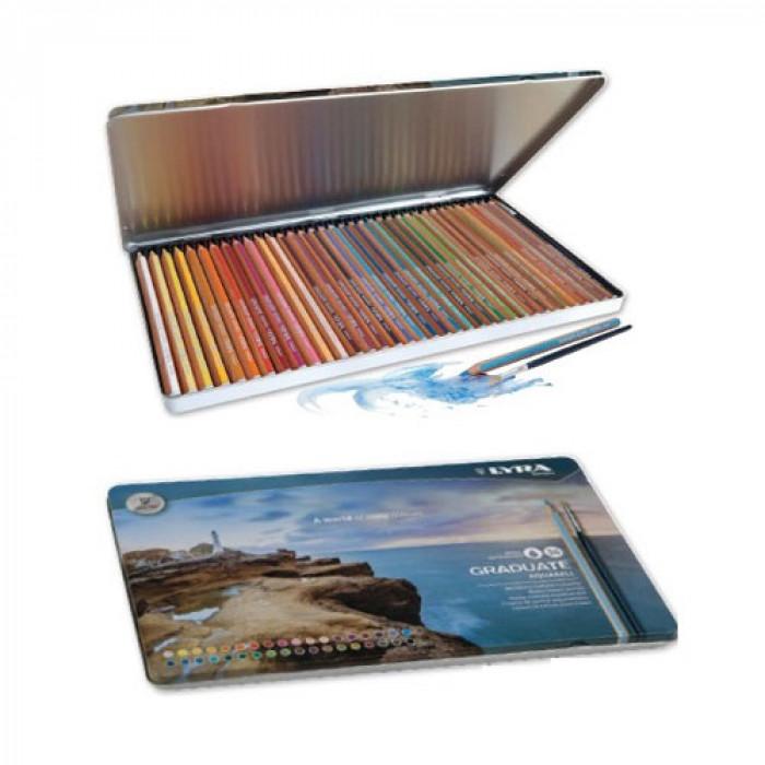 Lyra - Graduate Aquarell Színes ceruza készlet, fémdobozos, 36 db-os