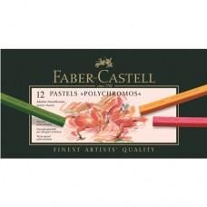 Faber-Castell - Polychromos Pasztell rúd készlet, 12 db-os