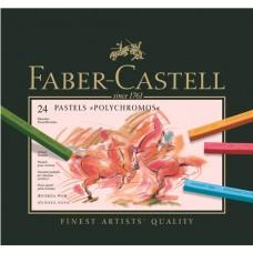 Faber-Castell - Polychromos Pasztell rúd készlet, 24 db-os