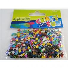 Kreatív Flitter 14g., vegyes színes csillagok