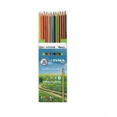Lyra - Graduate Színes ceruza készlet, 12 db-os