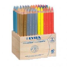 Lyra - Color-Giants Metal + Neon Színes ceruza készlet, 96 db-os, fadobozban